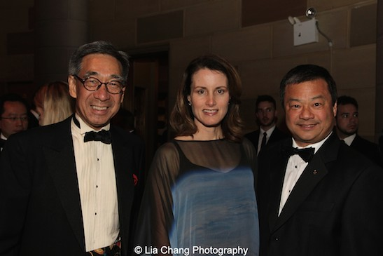 Chien Chung (Didi) Pei, Karen Chiao and Dr. Leroy Chiao attend the China Institute's Blue Cloud Gala at Gotham Hall in New York on May 29, 2015. Photo by Lia Chang
