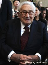 Dr. Henry Kissinger attends the 'China: Through the Looking Glass' press preview at the Temple of Dendur at Metropolitan Museum of Art on May 4, 2015 in New York City. Photo by Lia Chang