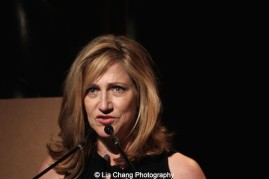 Edie Falco emceed at The 52nd Street Project's Fancy That Benefit at The Edison Ballroom in New York on May 4, 2015. Photo by Lia Chang