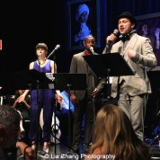Ethan Zenteno, Kendal Hartse, Akron Watson, Bryce Pinkham at The 52nd Street Project's Fancy That Benefit at The Edison Ballroom in New York on May 4, 2015. Photo by Lia Chang