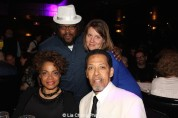 Jacob Ming-Trent, Christy Ming-Trent, Denise Burse Fernandez, Peter Jay Fernandez at The 52nd Street Project's Fancy That Benefit at The Edison Ballroom in New York on May 4, 2015. Photo by Lia Chang