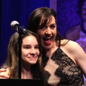 Jayda Camacho and Lena Hall at The 52nd Street Project's Fancy That Benefit at The Edison Ballroom in New York on May 4, 2015. Photo by Lia Chang