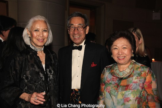 Jean Young, Chien Chung (Didi) Pei and Shirley Young attend the China Institute's Blue Cloud Gala at Gotham Hall in New York on May 29, 2015. Photo by Lia Chang