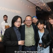 Jimmy O. Yang, Jeff Yang, Jane Kim and Ursula Liang attend HBO's screening of East of Main Street: Taking the Lead at Root (Drive-In) in New York on May 6, 2015. Photo by Lia Chang