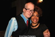 John Sheehy and Denise Burse Fernandez at The 52nd Street Project's Fancy That Benefit at The Edison Ballroom in New York on May 4, 2015. Photo by Lia Chang