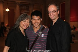 June Jee, Telly Leung and Gary Adler at the Metropolitan Museum of Art's celebration of Asian-Pacific American Heritage Month on May 22, 2015 in the Grace Rainey Rogers Auditorium in New York. Photo by Lia Chang