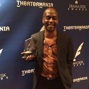 "K. Todd Freeman wins a Drama Desk Award for Outstanding Featured Actor in a Play for his performance in ""Airline Highway."" Photo courtesy of K. Todd Freeman/Facebook"