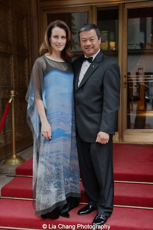 Karen Chiao and Dr. Leroy Chiao attend the China Institute's Blue Cloud Gala at Gotham Hall in New York on May 29, 2015. Photo by Lia Chang