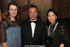 Karen Chiao, Dr. Leroy Chiao and Angelica O. Tang attend the China Institute's Blue Cloud Gala at Gotham Hall in New York on May 29, 2015. Photo by Lia Chang