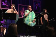 Kendal Hartse, Taylor Trensch and Adrienne Warren perform at The 52nd Street Project's Fancy That Benefit at The Edison Ballroom in New York on May 4, 2015. Photo by Lia Chang