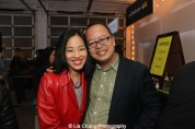 Lia Chang and Jeff Yang attend HBO's screening of East of Main Street: Taking the Lead at Root (Drive-In) Studio in New York on May 6, 2015. Photo by GK