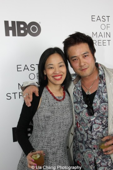 Lia Chang and Shing Ka attend HBO's screening of East of Main Street: Taking the Lead at Root (Drive-In) in New York on May 6, 2015. Photo by GK