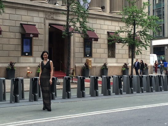 Lia Chang in front of Gotham Hall in New York. Photo by GK