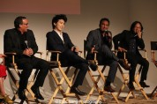 Executive Producer Louis Tancredi, director Jonathan Yi, actors Aasif Mandvi, Jimmy O. Yang attend HBO's screening of East of Main Street: Taking the Lead at Root (Drive-In) in New York on May 6, 2015. . Photo by Lia Chang