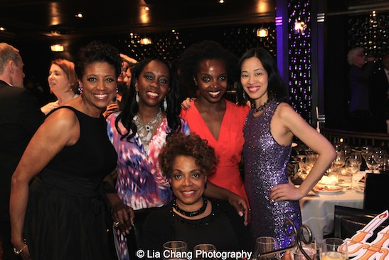 Marva Hicks Taha, Selena Evans, MaameYaa Boafo, Lia Chang and Denise Burse Fernandez at The 52nd Street Project's Fancy That Benefit at The Edison Ballroom in New York on May 4, 2015. Photo by Lia Chang