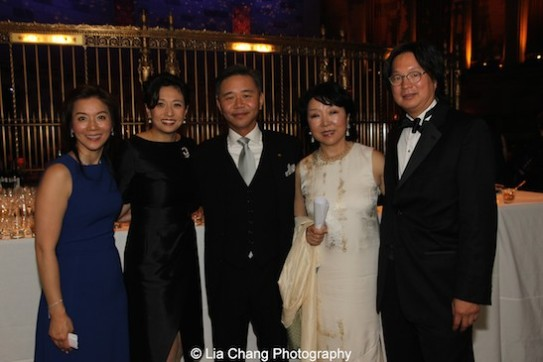 Michelle Hayashi Koo, Shirley Wang, Walter Wang, Anla Cheng and Jess Ting MD attend the China Institute's Blue Cloud Gala at Gotham Hall in New York on May 29, 2015. Photo by Lia Chang