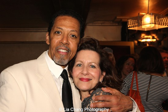 Peter Jay Fernandez and Betsy Aidem at The 52nd Street Project's Fancy That Benefit at The Edison Ballroom in New York on May 4, 2015. Photo by Lia Chang