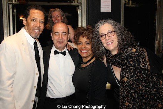 Peter Jay Fernandez, Bruce MacVittie, Denise Burse and The 52nd Street Project's Executive Director Carol Ochs attend The 52nd Street Project's Fancy That Benefit at The Edison Ballroom in New York on May 4, 2015. Photo by Lia Chang