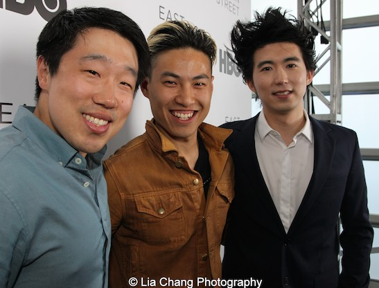 Raymond J. Lee, Tobias Wong and Jonathan Yi attend HBO's screening of East of Main Street: Taking the Lead at Root (Drive-In) in New York on May 6, 2015. Photo by Lia Chang