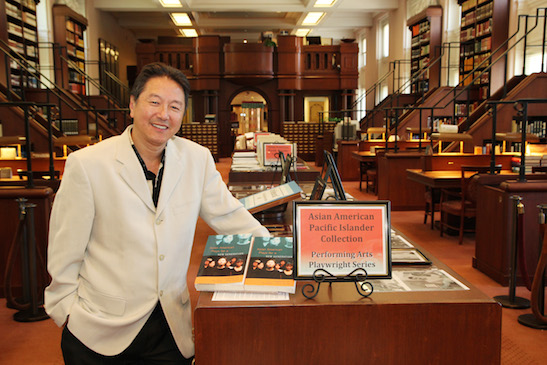 Rick Shiomi in the Asian Reading Room of the Library of Congress in Washington D.C. on July 27, 2011. Photo by Lia Chang