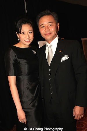 Blue Cloud honorees  Shirley Wang and Walter Wang at the China Institute's Blue Cloud Gala at Gotham Hall in New York on May 29, 2015. Photo by Lia Chang