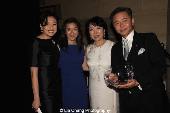 Shirley Wang, Michelle Hayashi Koo, Anla Cheng, Walter Wang attend the China Institute's Blue Cloud Gala at Gotham Hall in New York on May 29, 2015. Photo by Lia Chang
