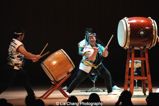 Soh Daiko performs at the Metropolitan Museum of Art's celebration of Asian-Pacific American Heritage Month on May 22, 2015 in the Grace Rainey Rogers Auditorium in New York. Photo by Lia Chang