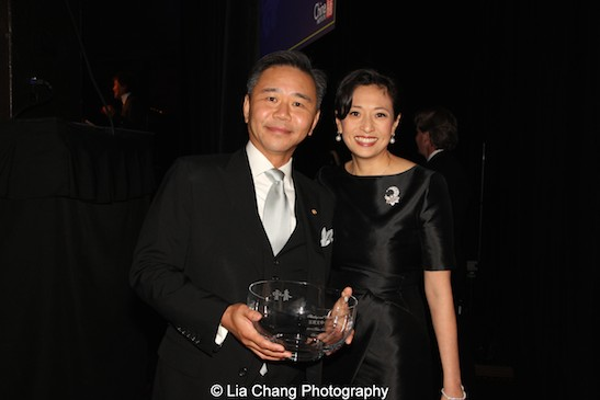 Blue Cloud honorees Walter Wang and Shirley Wang at the China Institute's Blue Cloud Gala at Gotham Hall in New York on May 29, 2015. Photo by Lia Chang