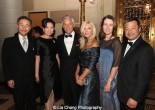 Blue Cloud honorees Walter Wang and his wife Shirley Wang, honoree Jon Huntsman Jr. and his wife Mary Kaye Huntsman, Karen Chiao and her husband honoree Leroy Chiao attend the China Institute's Blue Cloud Gala at Gotham Hall in New York on May 29, 2015. Photo by Lia Chang