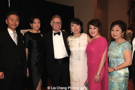 Walter Wang, Shirley Wang, Mark Kingdon, Anla Cheng, Yue Sai Kan, and Sophia Sheng attend the China Institute's Blue Cloud Gala at Gotham Hall in New York on May 29, 2015. Photo by Lia Chang