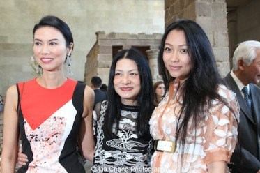 Wendi Murdoch, fashion designer Vivienne Tam and Veronica Chou attend the 'China: Through the Looking Glass' press preview at the Temple of Dendur at Metropolitan Museum of Art on May 4, 2015 in New York City. Photo by Lia Chang