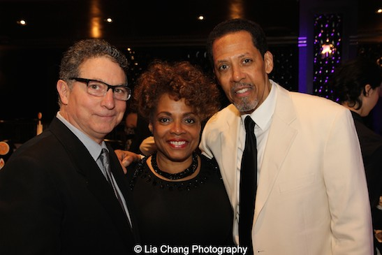 Willie Reale, Denise Burse Fernandez and Peter Jay Fernandez attend The 52nd Street Project's Fancy That Benefit at The Edison Ballroom in New York on May 4, 2015. Photo by Lia Chang