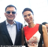 Filmmaker Wong Kar-Wai and Wendi Murdoch attend the 'China: Through the Looking Glass' press preview at the Temple of Dendur at Metropolitan Museum of Art on May 4, 2015 in New York City. Photo by Lia Chang