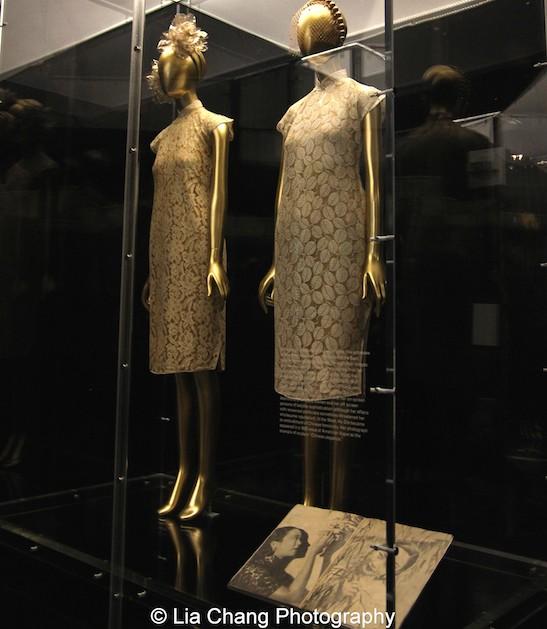 Chu Hongsheng (Chinese, born 1918), Cheongsams, 1930s, Worn by Hu Die (Butterfly Wu, Chinese, 1908-1989) Cream silk lace.