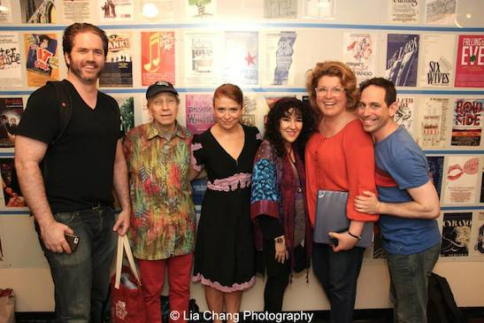 Aaron Ramey, Scott Seagal, Maxine Linehan, Barbara Seagal, Klea Blackhurst, Garth Kravits after the performance of Grounded for Life at The York in New York on June 26, 2015. Photo by Lia Chang
