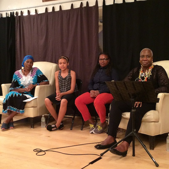 Adia N. Onyango, Remsen Welsh, Martine Louisma and Marcia Pendleton. Photo by Lia Chang