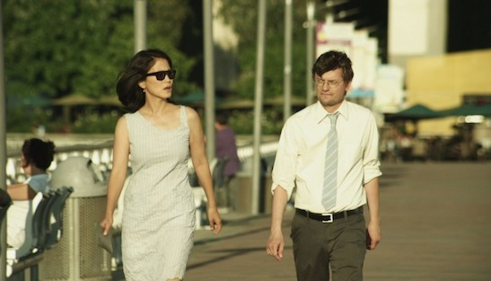 Jacqueline Kim and James Urbaniak in Advantageous.