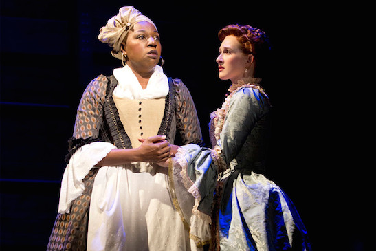 Pictured (left to right): Laiona Michelle and Erin Mackey. Photo: Joan Marcus