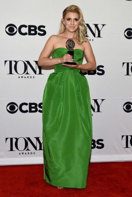"NEW YORK, NY - JUNE 07: Annaleigh Ashford, winner of the award for Best Performance by an Actress in a Featured Role in a Play for ""You Can't Take It With You,"" poses in the press room at the 2015 Tony Awards on June 7, 2015 in New York City. (Photo by Andrew H. Walker/Getty Images for Tony Awards Productions)"