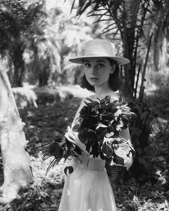 Audrey Hepburn on location in Africa for The Nun's Story by Leo Fuchs, 1958. Image credit: Leo Fuchs.