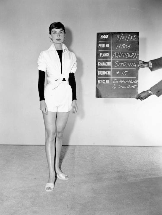 Audrey Hepburn being fitted for her costume ahead of filming Sabrina Fair in 1953. (Picture: Paramount Pictures/National Portrait Gallery/PA Wire)