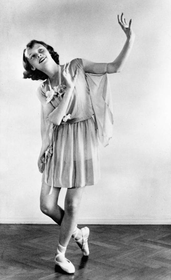 Audrey Hepburn performing a dance recital in 1942, aged thirteen.<br /> (Picture: Manon van Suchtelen/Audrey Hepburn Estate Collection/National Portrait Gallery/PA Wire)