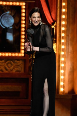 "NEW YORK, NY - JUNE 07: Lighting Designer Natasha Katz accepts the award for Best Lighting Design of a Musical for ""An American in Paris"" onstage at the 2015 Tony Awards at Radio City Music Hall on June 7, 2015 in New York City. (Photo by Theo Wargo/Getty Images for Tony Awards Productions)"
