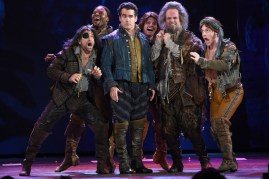 NEW YORK, NY - JUNE 07: Brian d'Arcy James (C) and the cast of Something Rotten perform onstage at the 2015 Tony Awards at Radio City Music Hall on June 7, 2015 in New York City. (Photo by Theo Wargo/Getty Images for Tony Awards Productions)