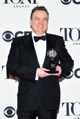 "NEW YORK, NY - JUNE 07: Richard McCabe, winner of the award for Best Performance by an Actor in a Featured Role in a Play for ""The Audience,"" poses in the press room during the 2015 Tony Awards at Radio City Music Hall on June 7, 2015 in New York City. (Photo by Andrew H. Walker/Getty Images for Tony Awards Productions)"