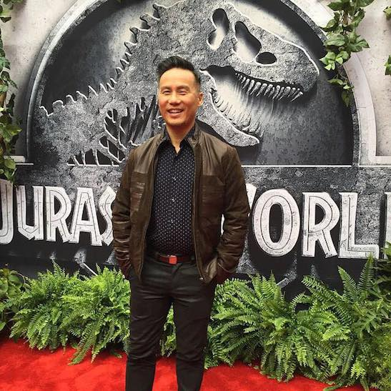 Actor BD Wong attends the premiere of 'Jurassic World' at the Dolby Theatre on June 9, 2015 in Hollywood, California. Photo courtesy of BD Wong/Facebook