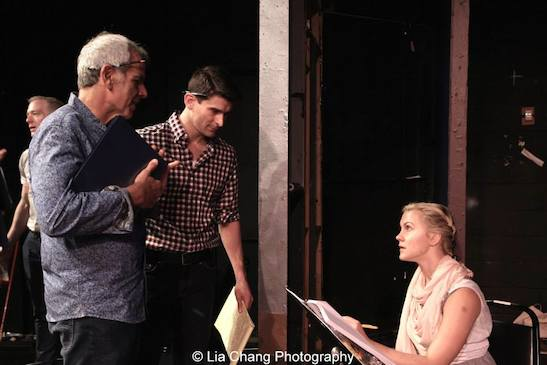 during rehearsal of the staged reading of Grounded for Life at The York in New York on June 26, 2015. Photo by Lia Chang