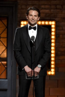 NEW YORK, NY - JUNE 07: Bradley Cooper speaks onstage at the 2015 Tony Awards at Radio City Music Hall on June 7, 2015 in New York City. (Photo by Theo Wargo/Getty Images for Tony Awards Productions)