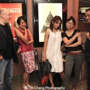 Castmembers Daniel Abse, Jeanne Sakata and Freya Adams, director Jennifer Phang and Producer Robert Chang at a screening of Advantageous at Cinema Village in New York on June 26, 2015. Photo by Lia Chang