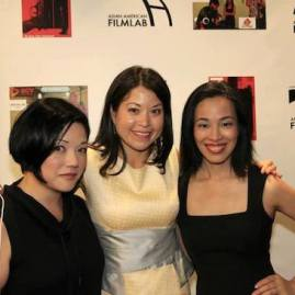 Film Lab Presents co-hosts Erin Quill, Asian American Film Lab president Jennifer Betit Yen and Lia Chang at the 72 Hour Shootout Launch party at The Korea Society in New York on June 4, 2015. Photo by GK